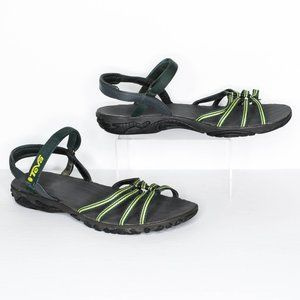 Teva Kayenta Sandals Strappy Open Toe Green 9 | AQ